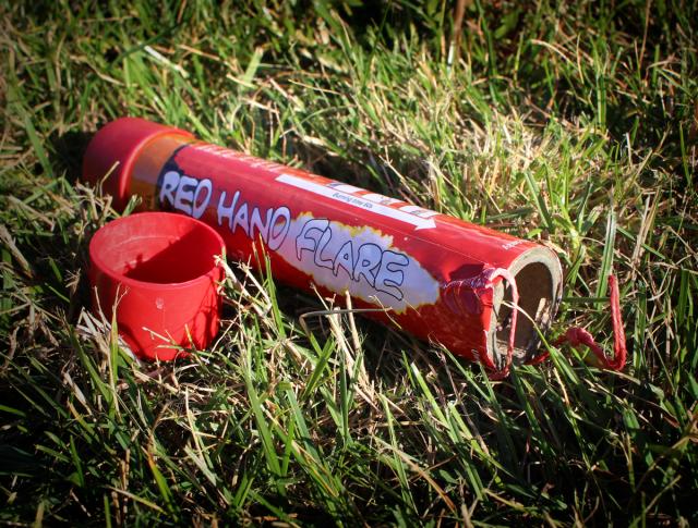 flara czerwona